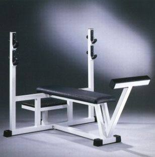 Technogym Isotonic Olympic Bench   Occasion Flachbank