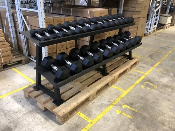 Hex Hantelsatz 2.5 bis 30 Kg | Set inkl. Rack