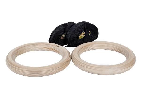 Ringe / Turnringe Holz   inkl. Straps