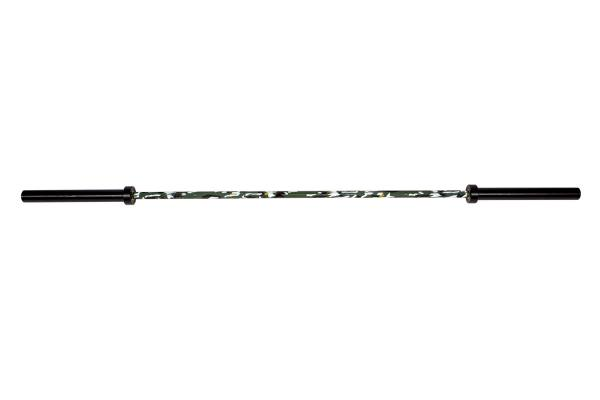 Camouflage OIympic Bar 20 Kg | Black Chrome Barbell